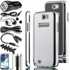 Brushed Aluminum Chrome Hard Case Cover For Samsung Galaxy Note 2 II N7100
