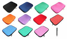 "Neoprene Sleeve Zip Case Cover Pouch for 7"" Inch Tablets & Black Stylus"