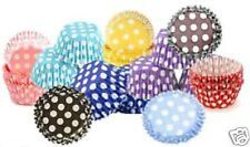 54 HIGH QUALITY POLKA DOT SPOT CUPCAKE MUFFIN CASES 10 COLOURS AVAILABLE UK