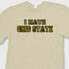 I HATE OHIO STATE Wolverines Jersey T-shirt Funny Michigan Sports Tee Shirt
