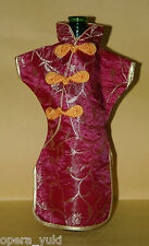 Chinese Silk Wine Bottle Cover  - Floral Cheung Sam  ( 2 colours )