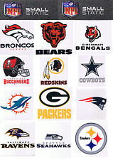 NFL Licensed Team Logo Small Window Static Cling Decal -- Pick Your Team!!