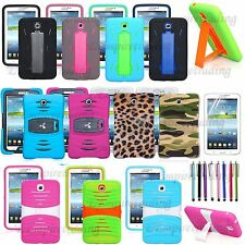 FOR SAMSUNG GALAXY TAB III 3 7.0/IV 4 7.0 RUGGED HYBRID ARMOR IMPACT CASE +FILM