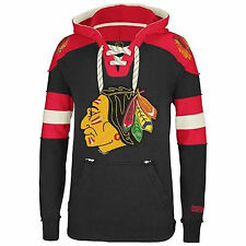 Chicago Blackhawks CCM Vintage NHL Classic Fleece Pullover Sweatshirt Hoodie