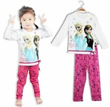 DISNEY FROZEN GIRLS PYJAMAS ELSA AND ANNA COSTUME PJS LONG SLEEVE. UK 3 STYLES