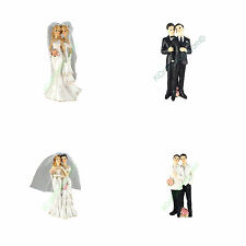 Gay or Lesbian Polyresin Figurine Couple Wedding Cake Topper Marriage Favor