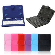 "Universal PU Leather Micro USB Keyboard Stand Case for 7"" Android Tablet Phablet"