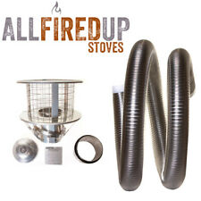 "Multifuel Flexible Flue Liner Installation Kit 3 For Wood Burning Stove 5"" To 5"""