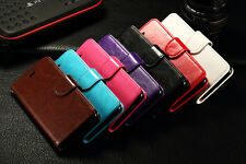 New Free shipping PU Leather Wallet Book Style with photo frame Cover Case skin