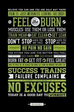 New Gym Motivation No Excuses Poster