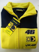 SWEATSHIRT Zip Adult Bike Moto GP valentino Rossi VR 46 NEW! Yellow & Navy