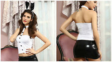 New Sexy Black Pink Playboy Bunny Body Suit Rabbit Adult Halloween Party Costume