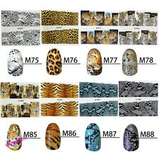 Chic Nail Decals Full Wrap Leopard Tiger Print Animal Water  Stickers Hot Sale