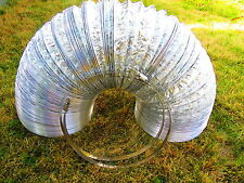 "10 packages of 6"" and 8"" X25' Flexible Aluminum Ducting Hose with 2-Ply Clamps"