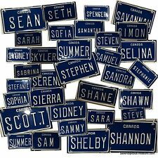 CANADA 'S' Mini Personalized Novelty License Plate Embossed Metal Name Bike/Toys