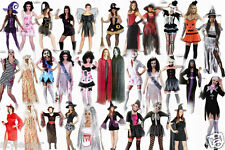 Ladies Halloween Costume Vampire Bloody Zombie Bride Witch Fancy Dress Costumes