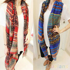 Elegant Womens Bohemian Style Voile Soft Silk Scarf Large Shawl Scarves Stole