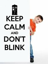'Keep Calm and Don't Blink' - Doctor Who Vinyl Wall Decor & Wall Sticker. New!