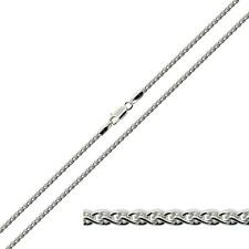 Solid 925 Sterling Silver 2mm Spiga Wheat Chain Bracelet Anklet