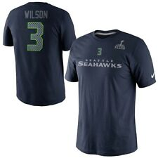 NIKE NFL SEATTLE SEAHAWKS RUSSELL WILSON Name & Number Super Bowl Jersey T-Shirt