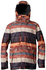 Quiksilver Mission Snowboard Jacket Wood World Mens