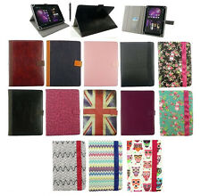 "New Universal Multi Angle Wallet Case Cover for 7-8"" inch Tablet +Stylus"