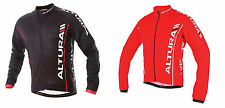 ALTURA TEAM CYCLE BIKE JERSEY Shirt Long Sleeve Performance Red Black Full Zip