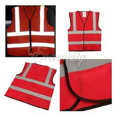 Pro High Visibility Safety Waistcoat Warning Security Reflective Stripes Vest