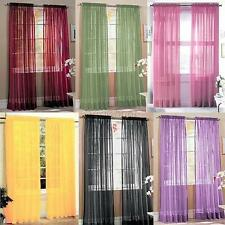 Drape Panel Voile Net Curtain /Lounge Room Suitable For Rods Pelmet One New ARD