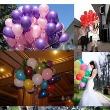 "50~100 x Colorful Pearl 10"" Latex Balloon Celebration Party Wedding Birthday"