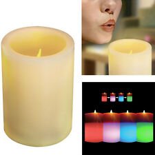 SCENTED FLAMELESS WAX FLICKERING REAL FLAME LED COLOUR CHANGING MAGIC CANDLE