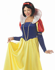 Womens Fairytale Disney Snow White Adult Halloween Costume Outfit S-XL