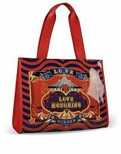 Love Moschino I LOVE CIRCUS Large Shoulder Bag Tote Purse Red, Turquoise