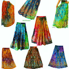 INDIAN GYPSY SKIRT HIPPIE BOHO DANCE FESTIVE TIE DYE PEASANT MAXI FREE SIZE
