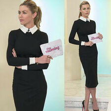 NEW Women Long Sleeve Slim Bodycon Stretch Cocktail Party Evening Pencil Dress