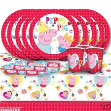 NEW BIRTHDAY PARTY TABLEWARE PACK PEPPA PIG PLATES NAPKINS CUPS KIT FOR 8,16