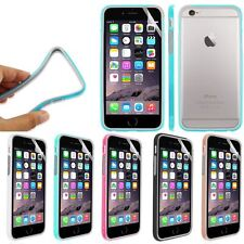 NEW SILICONE TPU BUMPER CASE COVER FOR iPhone 6 With Free Screen Protector