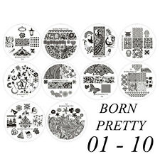 BORN PRETTY #01-10 New Nail Art Decotation Stamp Stamping Template Image Plates