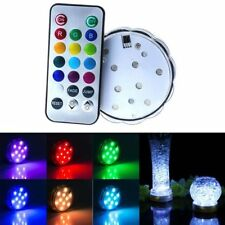 Multicolor Submersible Light 10 Led Waterproof  Wireless 2&24key Remote Control