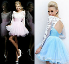 Stock Long-Sleeve Short Evening/Formal Ball Gowns Homecoming Dress size 6-16