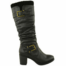 Womens Low Mid Knee High Calf Winters Warm Riding Boots Shoes Ladies Size UK 3-8