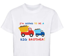 I'M GOING TO BE A BIG BROTHER TRUCKS DESIGNER BOYS T-SHIRT CHILDRENS AGE 1 - 12