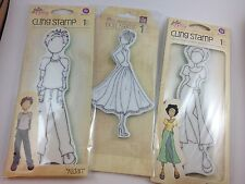 Prima Marketing Mixed Media Swing Dress Doll, Merci Cling Rubber Stamp above 11