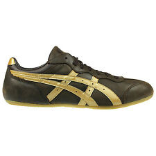 ASICS MENS WHIZZER LO PROFILE SHOE BROWN GOLD TRAINERS SIZE 6.5 - 10.5 SNEAKERS