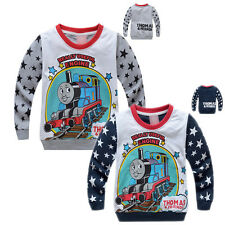 Toddler Kids Boys Thomas the Train Long Sleeve T Shirt Tops MD6830 Size 2-8 year