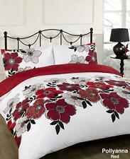 Duvet Quilt Cover Bedding Set Red White Single Double King Kingsize Super King