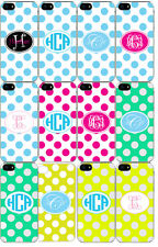 Custom Personalized Monogrammed iPhone 6 Custom Slim White Hard Case Cover