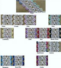 Eyelet Knitting in Lace - Assorted Colours - 10 metres