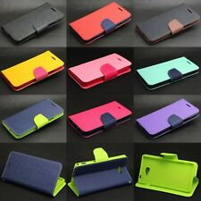Dual Color Deluxe Wallet Leather Flip TPU Case Stand Cover For Sony Xperia Phone