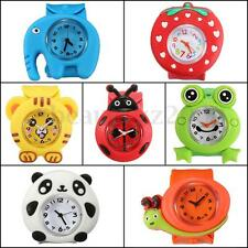 Plastic Bendable 3D Animals Cartoon Strap Slap Watches for Kids Children FN